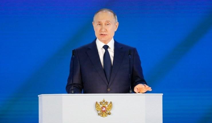 (Reseauinternational)Poutine prononce son discours annuel devant l'Assemblée fédérale