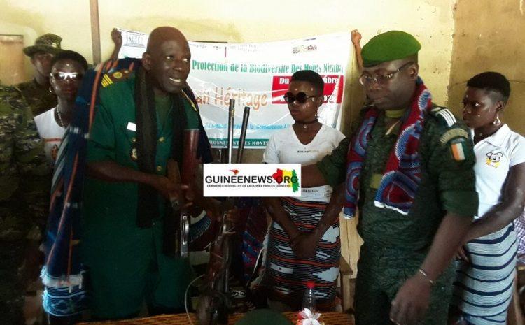 (Guineenews)Lola : un braconnier récidiviste guinéen  interpellé par les gardes forestiers ivoiriens