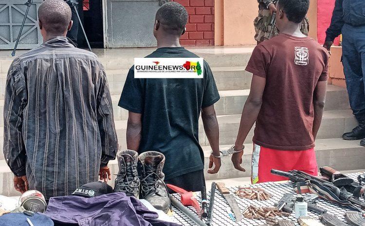 (Guineenews)Kindia : plusieurs coupeurs de route viennent de tomber dans les filets de la sécurité