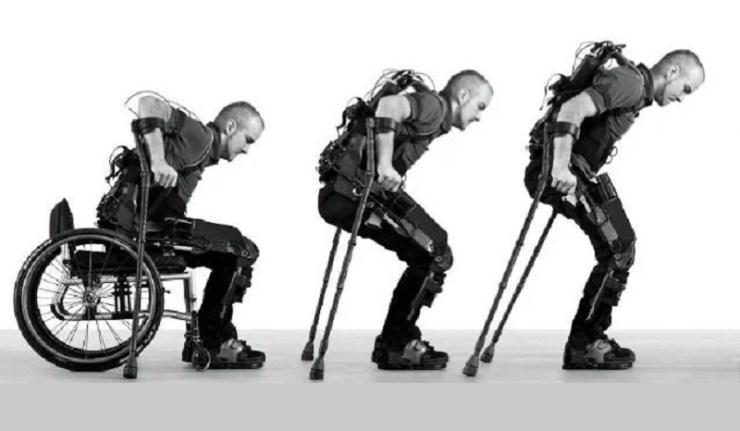 (Reseauinternational)Un exosquelette pour permettre aux personnes paraplégiques de remarcher