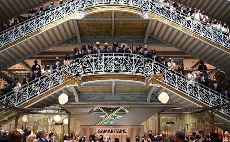 (rfi.fr)France: après 16 ans de fermeture, la Samaritaine rouvre ses portes au cœur de Paris