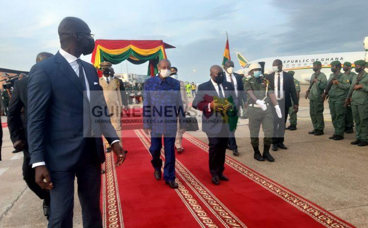 (Guineenews.org)Le président ghanéen est à Conakry