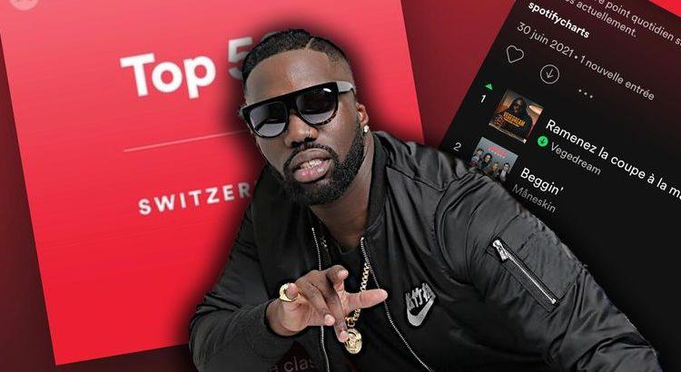 """(le moov)""""Ramenez la coupe à la maison"""" de Vegedream est 1er du top 50 en Suisse"""