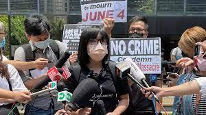 (rfi.fr)Tiananmen: l'une des organisatrices de la veillée du souvenir arrêtée à Hong Kong.