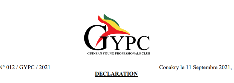 (Guineenews.org)Guinée : Le GYPC prend acte de la prise du pouvoir par le CNRD (Déclaration)