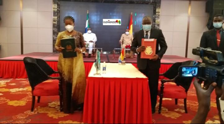 Visite d'amitié et de coopération de Maada BIO à Conakry  Voici le communiqué final(guineenews.org)