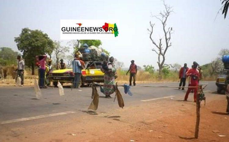 (Guineenews)Suppression des barrages non conventionnels : Qu'en est-il sur la nationale Conakry-Kindia?