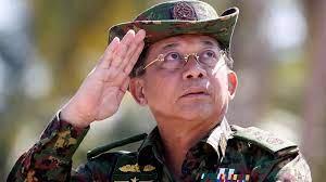 (rfi.fr)Min Aung Hlaing, le chef de la junte birmane, à Moscou.