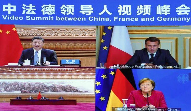(observateurcontinental)La France, l'Allemagne et la Chine se rencontrent virtuellement