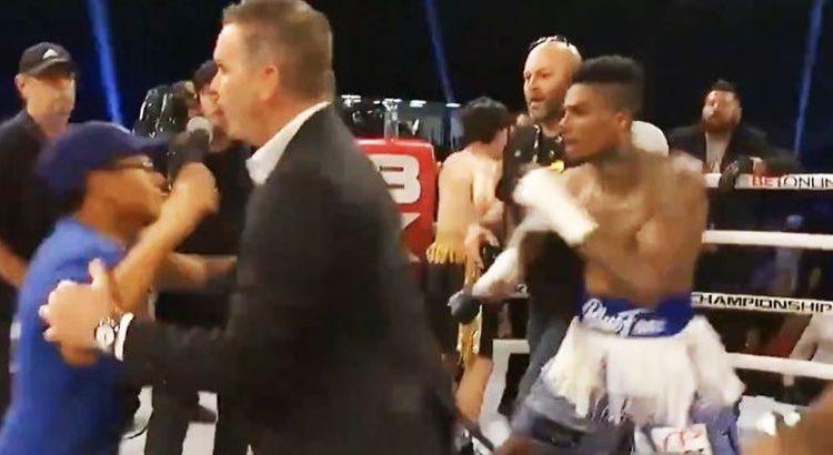 (le moov)Blueface gagne son premier combat de boxe… et frappe un spectateur