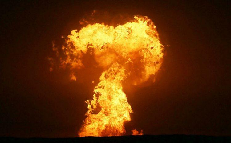(rfi)Une gigantesque explosion en mer Caspienne, au large de l'Azerbaïdjan