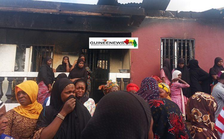 (Guineenews.org)Coyah: quatre personnes périssent dans un incendie à CBA
