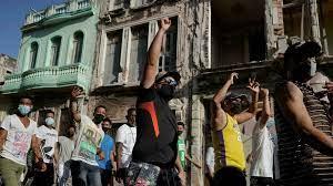 (rfi.fr)Cuba: le président Diaz-Canel accuse Washington d'avoir provoqué les manifestations sur l'île.