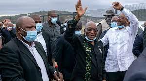 (rfi.fr)Afrique du Sud: l'ex-président Jacob Zuma se constitue prisonnier.