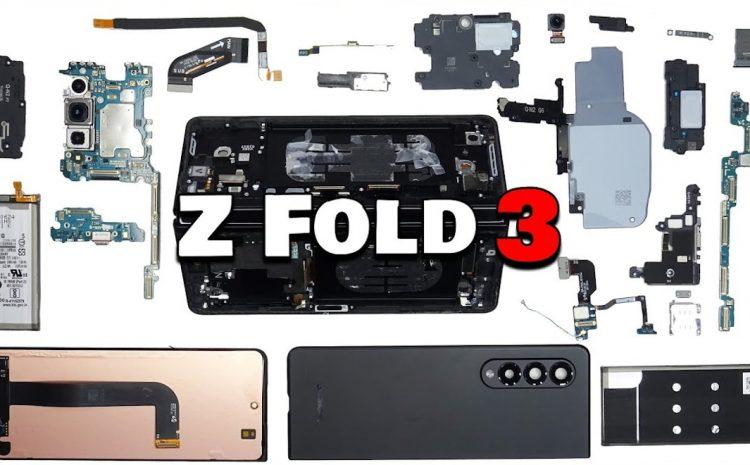 (phonandroid.com)Galaxy Z Fold 3 : découvrez les entrailles du smartphone pliable de Samsung en vidéo