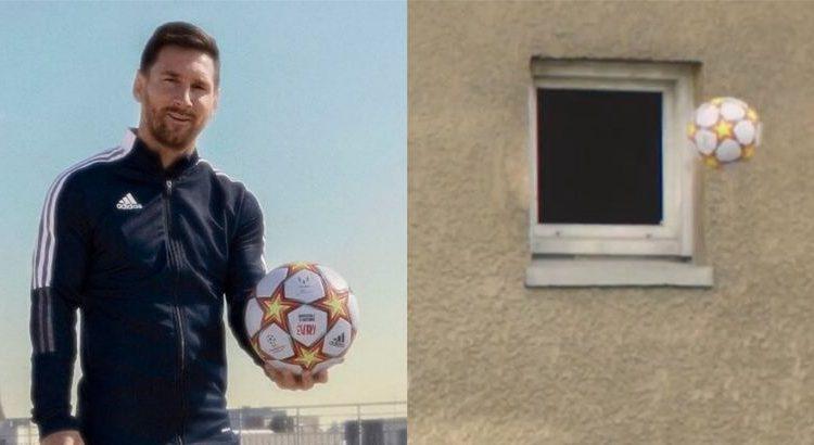 (mouv.fr)La lucarne d'Evry dans la nouvelle pub Adidas avec Lionel Messi